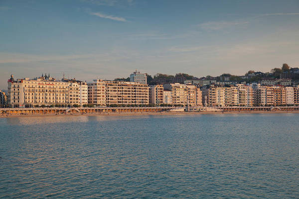 Basque Wall Art - Photograph - Buildings At The Waterfront, San by Panoramic Images