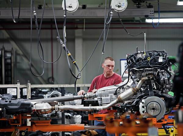 Manufacturing Plant Wall Art - Photograph - Car Production Assembly Line by Jim West