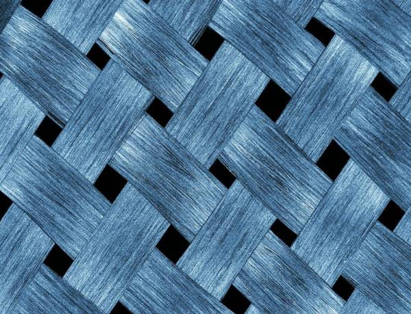 Carbon Fibre Fabric Art Print by Alfred Pasieka