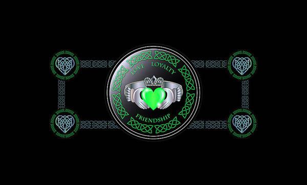 Wall Art - Digital Art - Celtic Claddagh Ring  by Ireland Calling