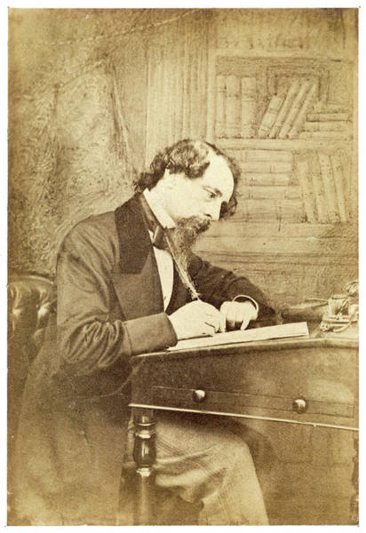Wall Art - Photograph - Charles Dickens  English Writer by Mary Evans Picture Library