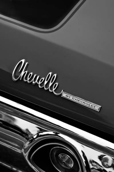 Chevy Chevelle Wall Art - Photograph - Chevrolet Chevelle Ss Taillight Emblem by Jill Reger