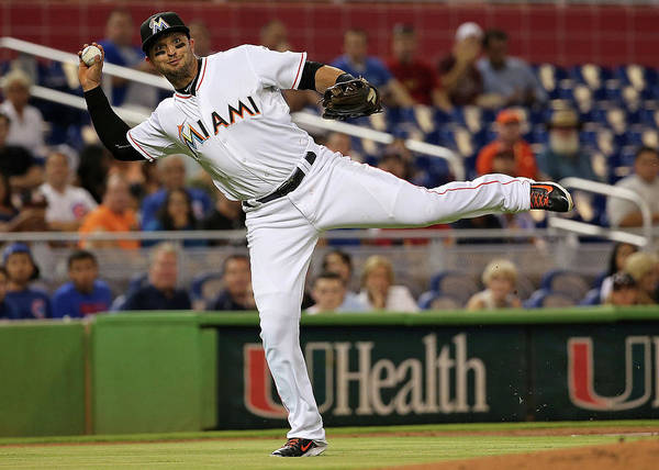 Miami Marlins Photograph - Chicago Cubs V Miami Marlins by Mike Ehrmann