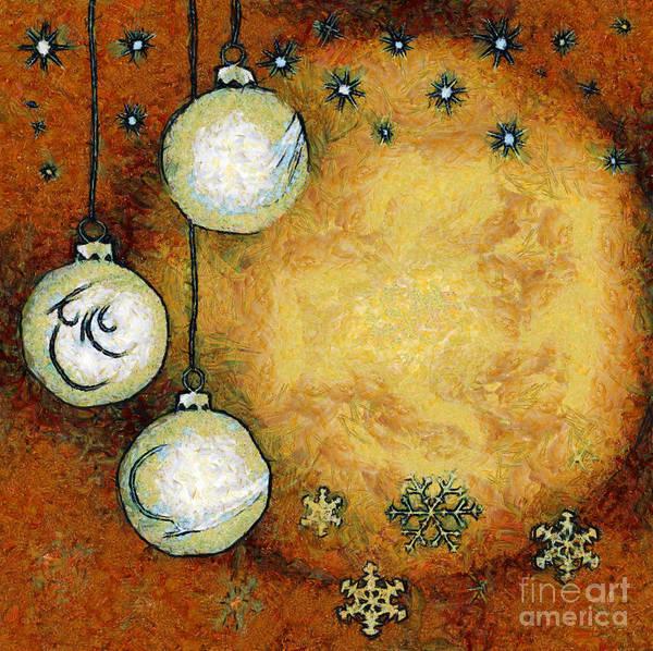 Yule Digital Art - Christmas Background by Michal Boubin