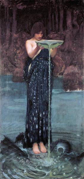 Painting - Circe Invidiosa by John William Waterhouse