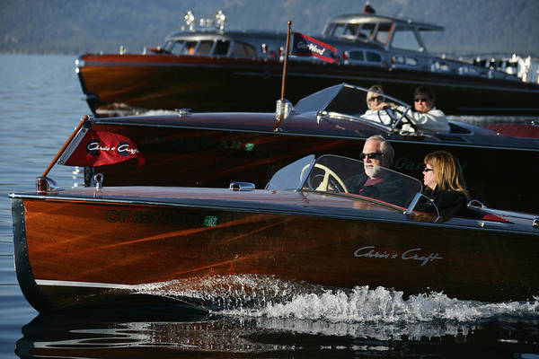 Outboard Engine Photograph - Classic Speedsters by Steven Lapkin