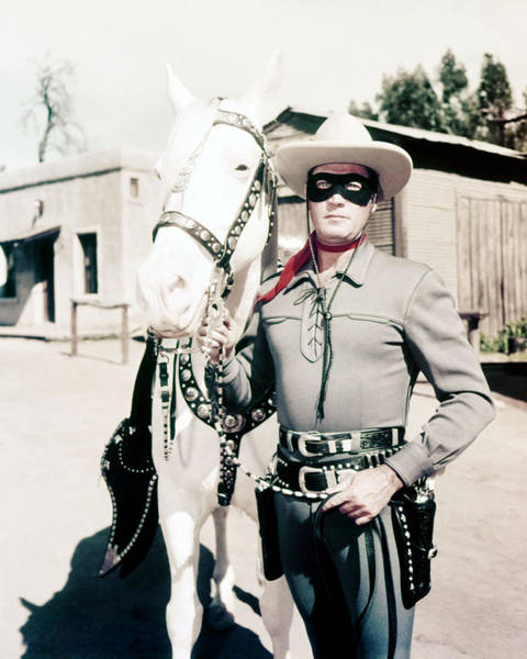 Wall Art - Photograph - Clayton Moore In The Lone Ranger  by Silver Screen