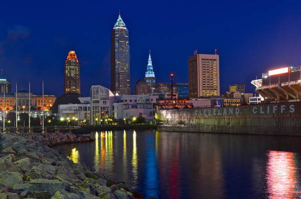 Palace Pier Wall Art - Photograph - Cleveland Ohio  by Frozen in Time Fine Art Photography