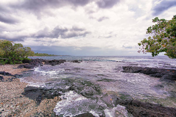 Photograph - Cloudy Day On The Kohala Coast by Jim Thompson