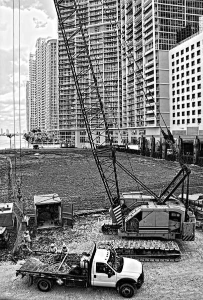 Photograph - Construction Site-2 by Rudy Umans