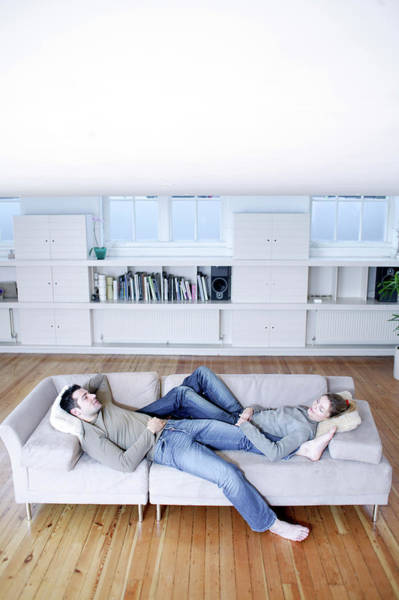 Wall Art - Photograph - Couple Relaxing by Ian Hooton/science Photo Library