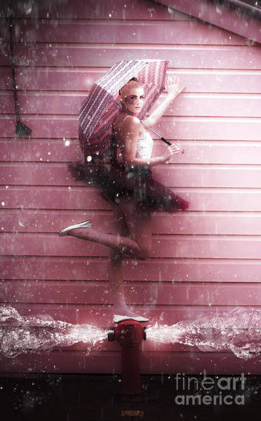 Purple Rain Digital Art - Dancer by Jorgo Photography - Wall Art Gallery
