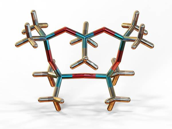 Skin Care Wall Art - Photograph - Decamethylcyclopentasiloxane Molecule by Alfred Pasieka/science Photo Library