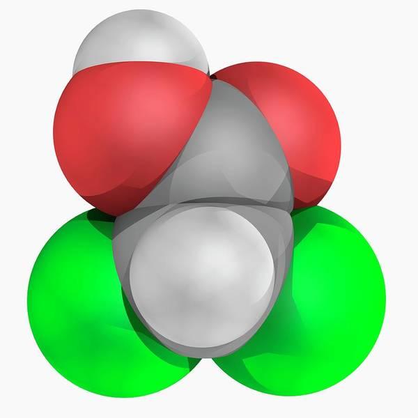Wall Art - Photograph - Dichloroacetic Acid Dca Molecule by Laguna Design/science Photo Library