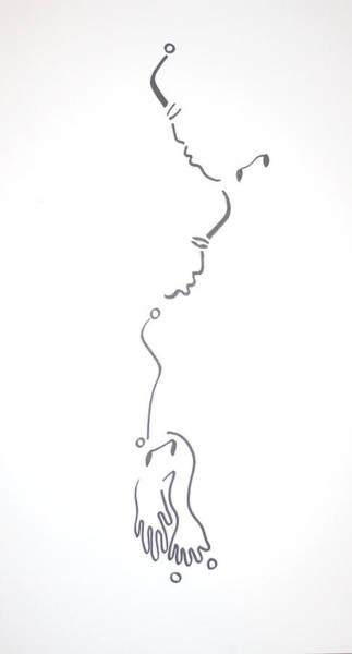 Dinka People Drawing - Dinka Embrace by Gloria Ssali