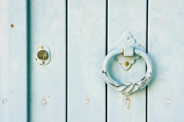 Lock Gates Photograph - Door Knocker by Tom Gowanlock