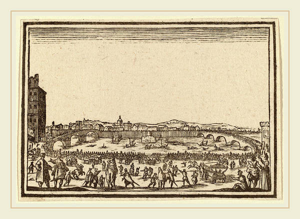 Fireworks Drawing - Edouard Eckman After Jacques Callot Flemish by Litz Collection