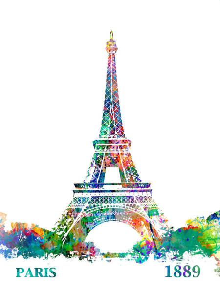 Eiffel Tower Paris France 1889 Art Print
