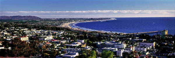 Ventura Photograph - Elevated View Of City At Waterfront by Panoramic Images