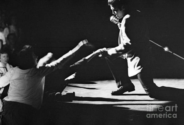 Wall Art - Photograph - Elvis Presley In Concert At The Fox Theater Detroit 1956 by The Harrington Collection
