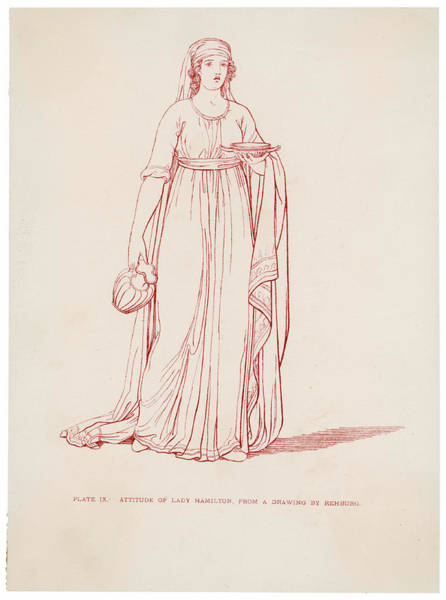 Attitude Drawing - Emma, Lady Hamilton  Wife Of Lord by Mary Evans Picture Library