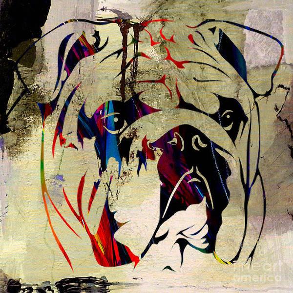 Wall Art - Mixed Media - English Bulldog by Marvin Blaine