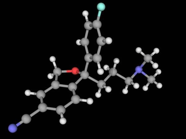 Wall Art - Photograph - Escitalopram Drug Molecule by Laguna Design/science Photo Library