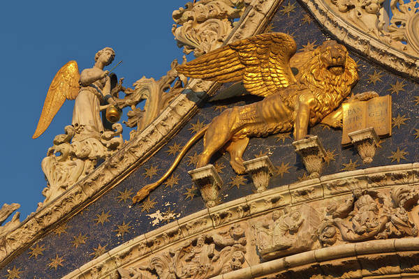Lion Of St Mark Photograph - Europe, Italy, Venice by Jaynes Gallery