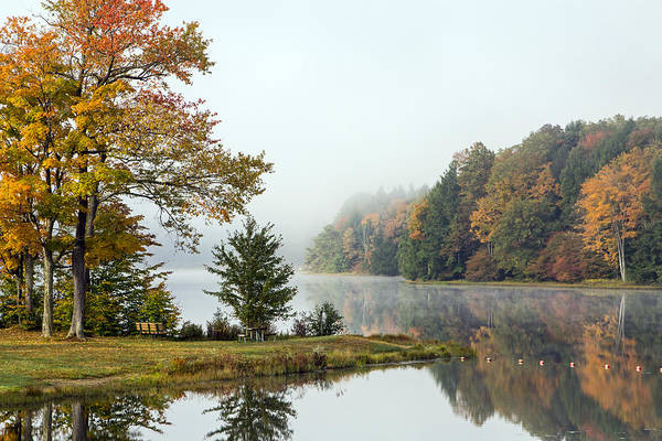 Photograph - Foggy Fall Morning by Frank Morales Jr