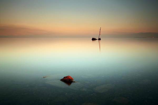 Flat Calm Shipwreck  Art Print
