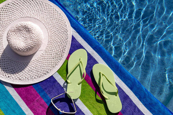 Photograph - Flip Flops By The Pool by Teri Virbickis