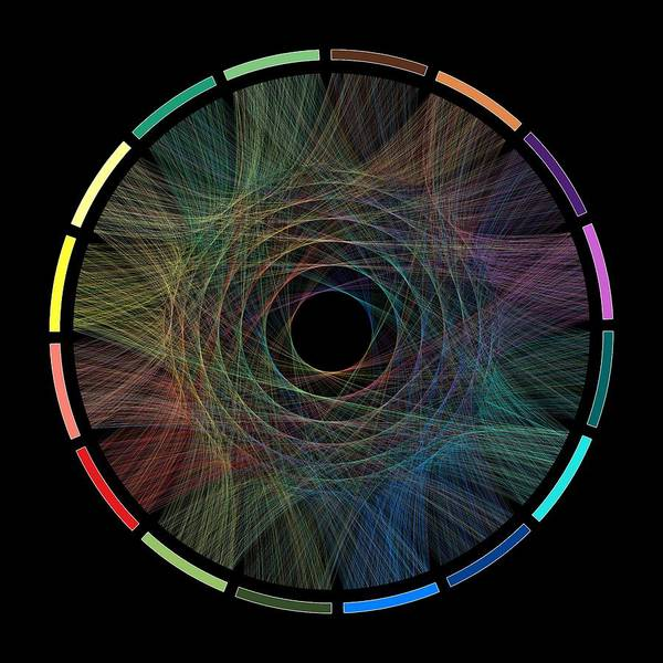Visualization Digital Art - Flow Of Life Flow Of Pi by Cristian Ilies Vasile