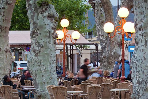 Outdoor Cafe Photograph - France, Corsica, La Balagne, Ile by Walter Bibikow