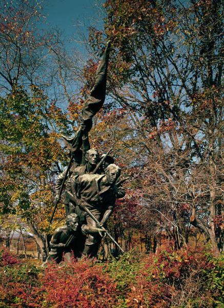 Wall Art - Photograph - Gettysburg Military Park by Granger