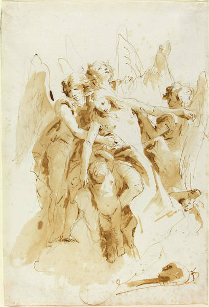 Wall Art - Drawing - Giovanni Battista Tiepolo Italian, 1696 - 1770 by Quint Lox