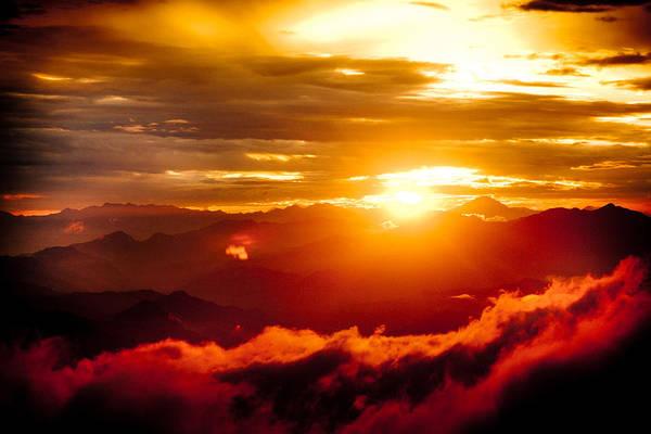 Photograph - Golden Sunset Himalayas Mountain Nepal by Raimond Klavins