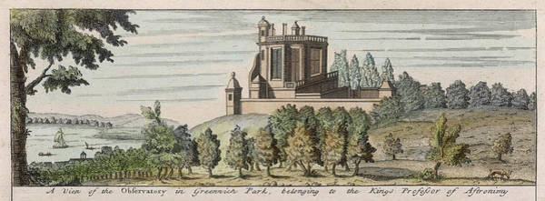 Wall Art - Drawing - Greenwich Royal Observatory by Mary Evans Picture Library