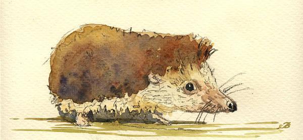 Juan Wall Art - Painting - Hedgehog by Juan  Bosco