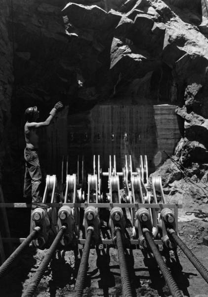 Wall Art - Photograph - Hoover Dam Construction, 1934 by Granger