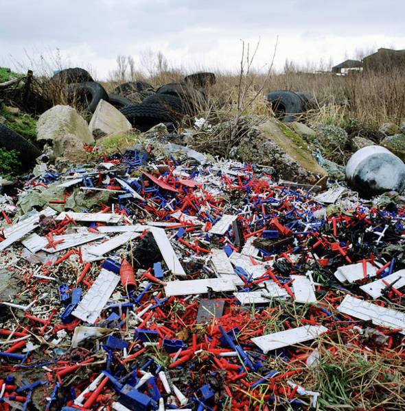 Wall Art - Photograph - Illegal Waste Dump by Robert Brook/science Photo Library