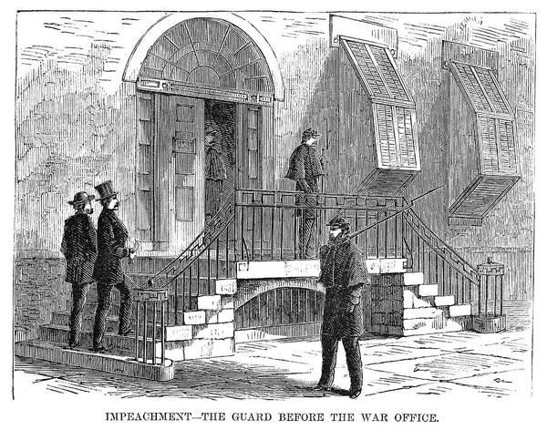 Washington D.c Painting - Johnson Impeachment, 1868 by Granger