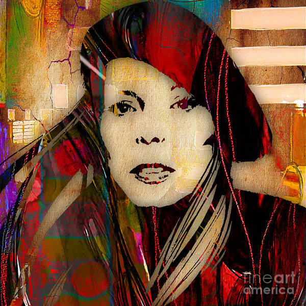Folk Singer Mixed Media - Joni Mitchell Collection by Marvin Blaine