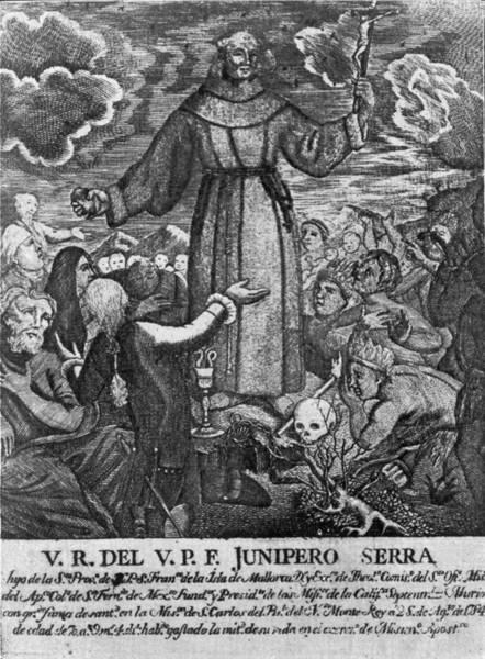 Spanish People Drawing - Junipero Serra by Granger