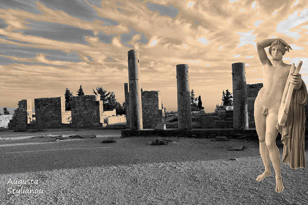 Digital Art - Kourion-temple Of Apollo by Augusta Stylianou