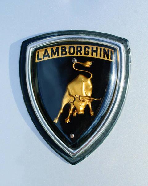 Supercar Photograph - Lamborghini Emblem by Jill Reger