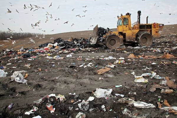 Bulldozer Photograph - Landfill Site by Jim West