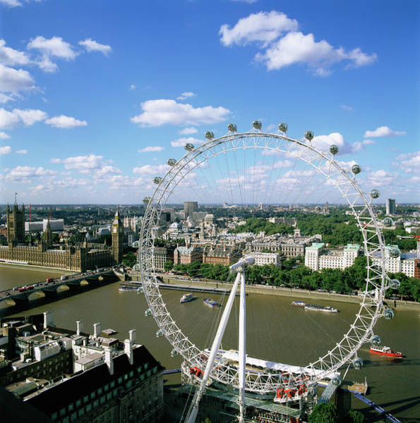 Southbank Photograph - London Eye by Mark Thomas/science Photo Library