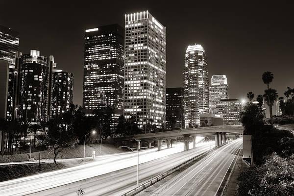 Photograph - Los Angeles At Night by Songquan Deng