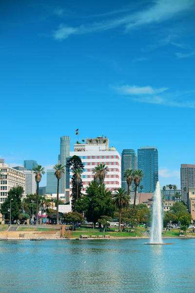 Photograph - Los Angeles Downtown by Songquan Deng