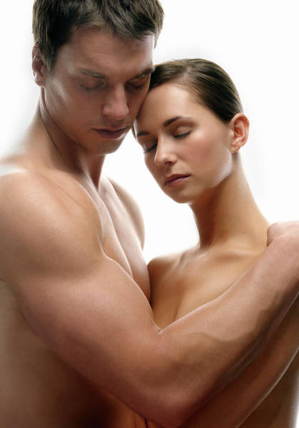 Passionate Photograph - Lovers Embracing by Kate Jacobs/science Photo Library